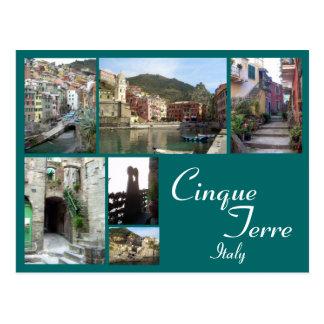 Carte Postale Collage de Cinque Terre
