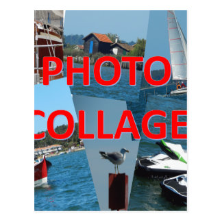 Carte Postale Collage de photo