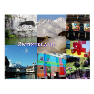 Carte Postale Collage de photo de la Suisse par Celeste Sheffey