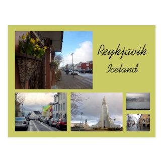Carte Postale Collage de Reykjavik