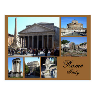 Carte Postale Collage de Rome
