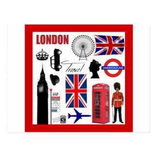Carte Postale Collage de voyage de Londres