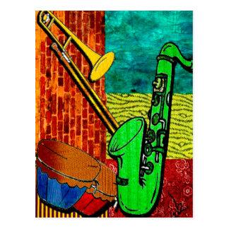 Carte Postale Collage terreux de jazz