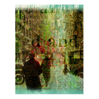 Carte Postale Collage vintage de grunge de Kansas City