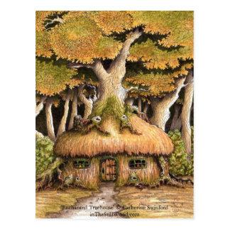 """Carte postale collectable """"de cabane dans un arbre"""
