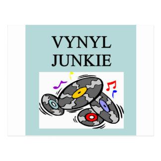 Carte Postale Collecteur de disque vinyle