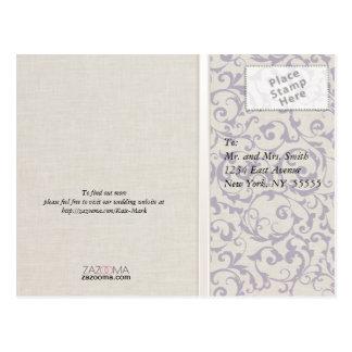 Carte Postale Collection de mariage de lavande de SmartElegance