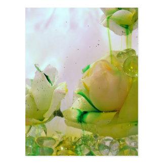 Carte Postale Collection de rose jaune