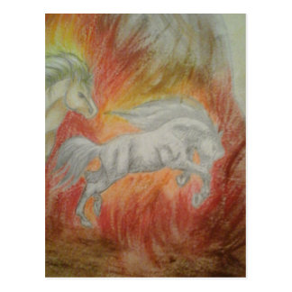 Carte Postale Collection ''Horses and Fire''