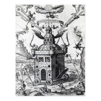 Carte Postale Collégium Fama Fraternitatis de frontispice '