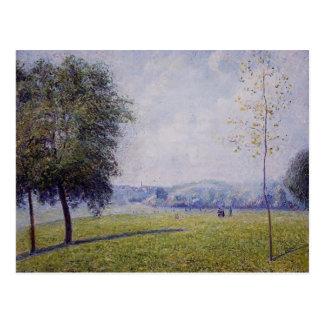 Carte Postale Colline de primevère de Camille Pissarro-, le parc
