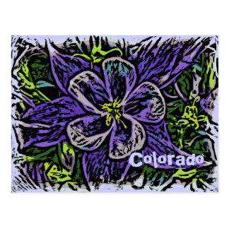 Carte postale colombine de deco du Colorado