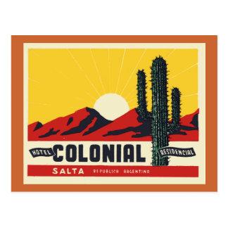 Carte Postale Colonial d'hôtel