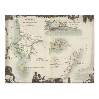 Carte Postale Colonies françaises en Afrique