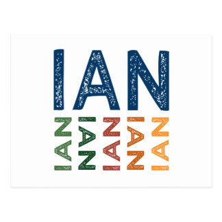 Carte Postale Coloré mignon d'Ian