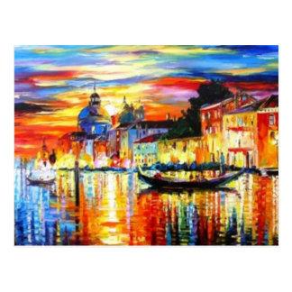 Carte postale colorée de Venise