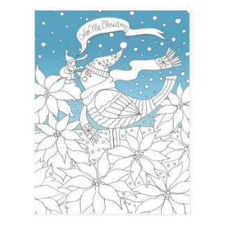 Carte Postale Colorez-moi art de livre de coloriage de Noël