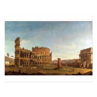 Carte Postale Colosseum et voûte de Constantine (Rome)