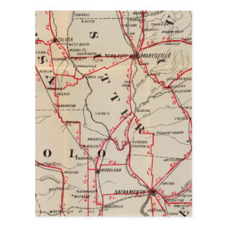 Carte Postale Colusa, Yolo, Napa, butte, Yuba, Sutter, Solano