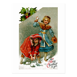 Carte Postale Combat de Snowball