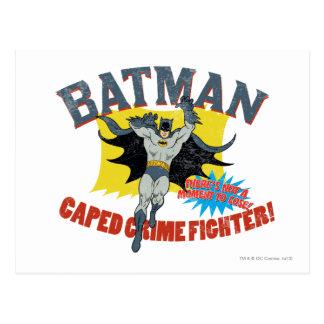 Carte Postale Combattant de crime de Batman Caped