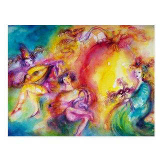 Carte Postale COMBUSTION du CARNAVAL/de danse vénitienne de