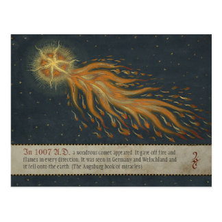 Carte Postale Comète du livre CC0904 de miracle d'Augsbourg
