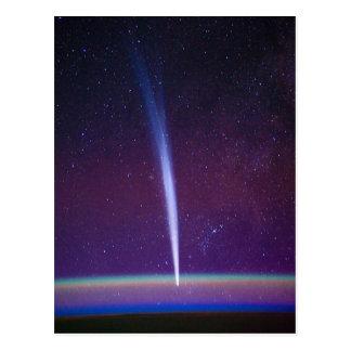 Carte Postale Comète Lovejoy près de l'horizon de la terre