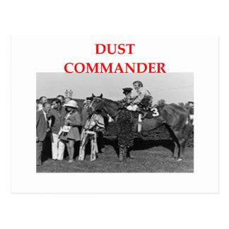 Carte Postale commandant de la poussière