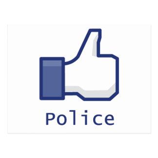Carte Postale Comme la police