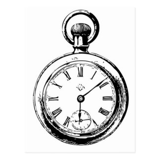 Carte Postale Comme l'illustration de montre de poche de rouages