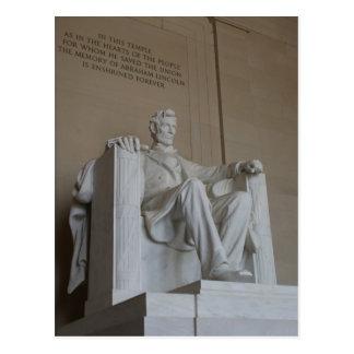 Carte postale commémorative de Washington DC