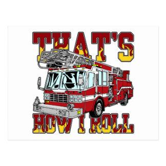 Carte Postale Comment je roule le camion de pompiers
