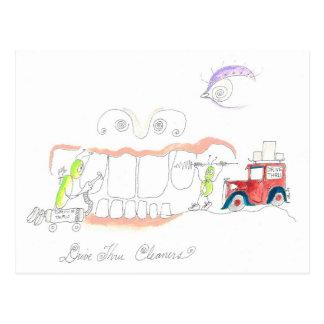 Carte Postale Comment nettoyer des dents