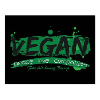 Carte Postale Compassion végétalienne d'amour de paix