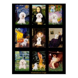 Carte Postale Composé célèbre de Bichon Frise d'art