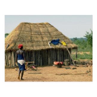 Carte Postale Composé de famille rural, Kunene, Angola