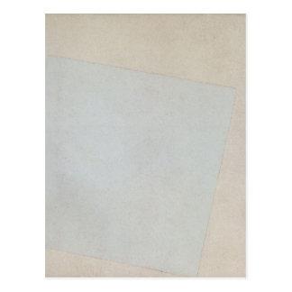 Carte Postale Composition en Suprematist : Blanc sur le blanc