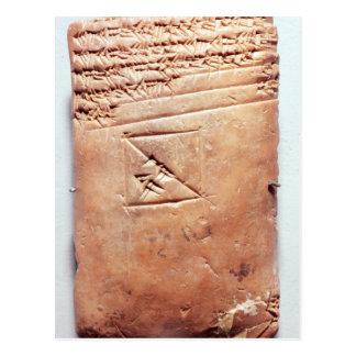 Carte Postale Comprimé avec le manuscrit cunéiforme, c.1830-1530