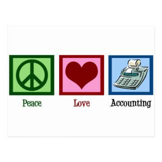 Carte Postale Comptabilité d'amour de paix