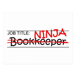 Carte Postale Comptable de Ninja de fonction