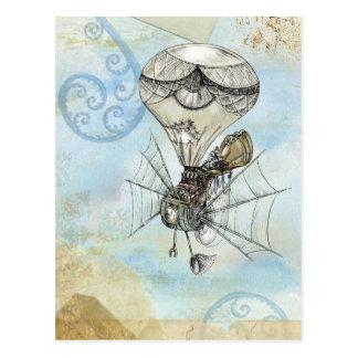 Carte Postale Conception bleue vintage chaude de Steampunk de