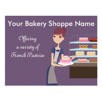 Carte Postale Conception de boulangerie/magasin de pâtisserie 4