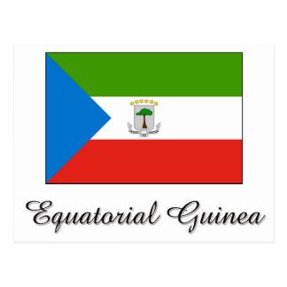 Carte Postale Conception de drapeau de Guinée équatoriale