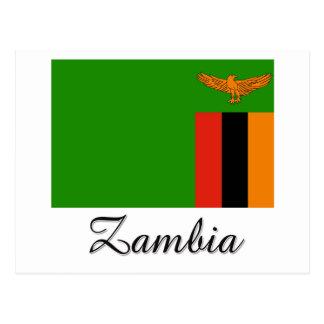 Carte Postale Conception de drapeau de la Zambie
