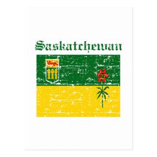 Carte Postale Conception de drapeau de Saskatchewan Canada