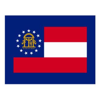 Carte Postale Conception de drapeau d'état de la Géorgie
