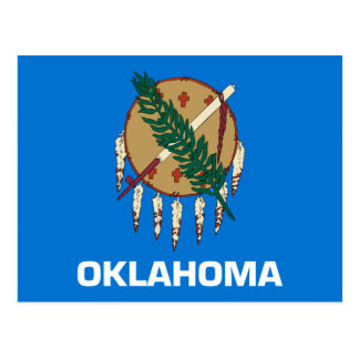 Carte Postale Conception de drapeau d'état de l'Oklahoma