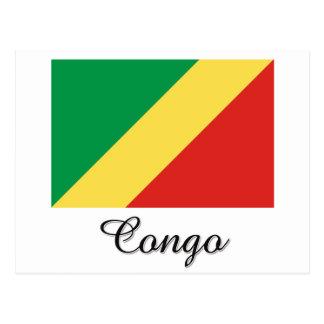 Carte Postale Conception de drapeau du Congo