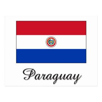 Carte Postale Conception de drapeau du Paraguay